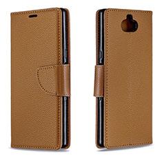 Coque Portefeuille Livre Cuir Etui Clapet L02 pour Sony Xperia 10 Plus Marron