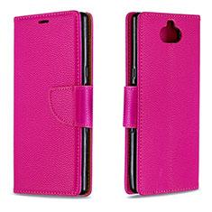 Coque Portefeuille Livre Cuir Etui Clapet L02 pour Sony Xperia 10 Rouge