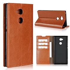 Coque Portefeuille Livre Cuir Etui Clapet L02 pour Sony Xperia XA2 Ultra Orange