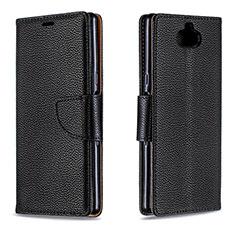 Coque Portefeuille Livre Cuir Etui Clapet L02 pour Sony Xperia XA3 Noir