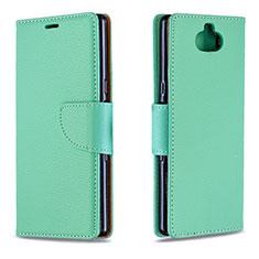 Coque Portefeuille Livre Cuir Etui Clapet L02 pour Sony Xperia XA3 Vert