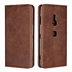 Coque Portefeuille Livre Cuir Etui Clapet L02 pour Sony Xperia XZ3 Marron