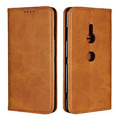 Coque Portefeuille Livre Cuir Etui Clapet L02 pour Sony Xperia XZ3 Orange