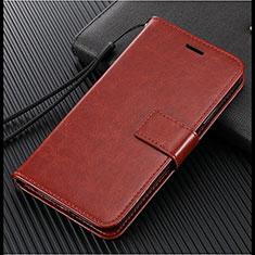 Coque Portefeuille Livre Cuir Etui Clapet L02 pour Vivo X50 Lite Marron