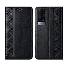Coque Portefeuille Livre Cuir Etui Clapet L02 pour Vivo X60 5G Noir