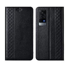 Coque Portefeuille Livre Cuir Etui Clapet L02 pour Vivo X60 Pro 5G Noir