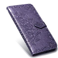 Coque Portefeuille Livre Cuir Etui Clapet L02 pour Xiaomi Mi Note 10 Lite Violet