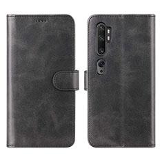 Coque Portefeuille Livre Cuir Etui Clapet L02 pour Xiaomi Mi Note 10 Noir