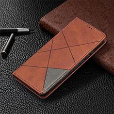 Coque Portefeuille Livre Cuir Etui Clapet L02 pour Xiaomi Redmi 9 India Marron