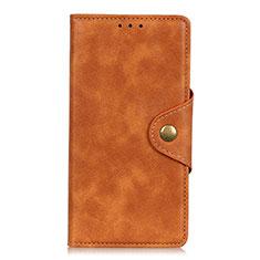Coque Portefeuille Livre Cuir Etui Clapet L02 pour Xiaomi Redmi Note 9 Pro Max Orange