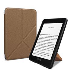 Coque Portefeuille Livre Cuir Etui Clapet L03 pour Amazon Kindle 6 inch Marron