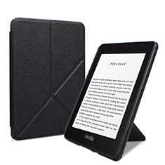 Coque Portefeuille Livre Cuir Etui Clapet L03 pour Amazon Kindle 6 inch Noir
