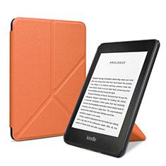 Coque Portefeuille Livre Cuir Etui Clapet L03 pour Amazon Kindle 6 inch Orange