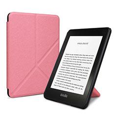 Coque Portefeuille Livre Cuir Etui Clapet L03 pour Amazon Kindle 6 inch Rose