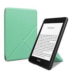 Coque Portefeuille Livre Cuir Etui Clapet L03 pour Amazon Kindle 6 inch Vert