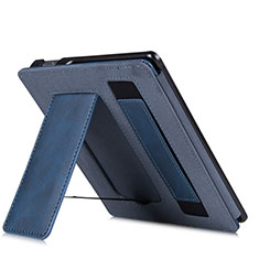 Coque Portefeuille Livre Cuir Etui Clapet L03 pour Amazon Kindle Oasis 7 inch Bleu