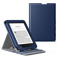 Coque Portefeuille Livre Cuir Etui Clapet L03 pour Amazon Kindle Paperwhite 6 inch Bleu