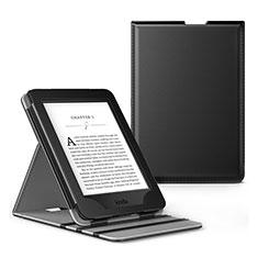 Coque Portefeuille Livre Cuir Etui Clapet L03 pour Amazon Kindle Paperwhite 6 inch Noir