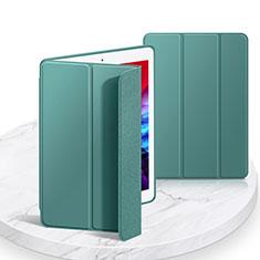 Coque Portefeuille Livre Cuir Etui Clapet L03 pour Apple iPad 10.2 (2020) Vert Nuit