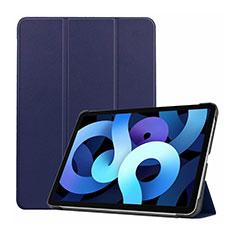 Coque Portefeuille Livre Cuir Etui Clapet L03 pour Apple iPad Air 4 10.9 (2020) Bleu Royal