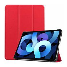 Coque Portefeuille Livre Cuir Etui Clapet L03 pour Apple iPad Air 4 10.9 (2020) Rouge