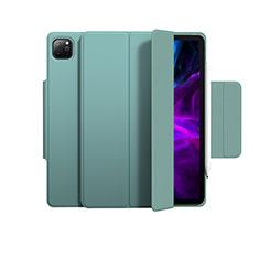 Coque Portefeuille Livre Cuir Etui Clapet L03 pour Apple iPad Pro 11 (2020) Vert