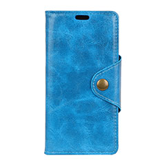 Coque Portefeuille Livre Cuir Etui Clapet L03 pour Asus Zenfone 5 Lite ZC600KL Bleu