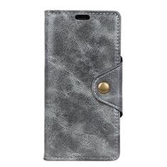 Coque Portefeuille Livre Cuir Etui Clapet L03 pour Asus ZenFone Live L1 ZA550KL Gris