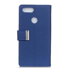 Coque Portefeuille Livre Cuir Etui Clapet L03 pour Asus Zenfone Max Plus M1 ZB570TL Bleu