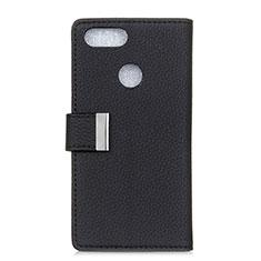 Coque Portefeuille Livre Cuir Etui Clapet L03 pour Asus Zenfone Max Plus M1 ZB570TL Noir