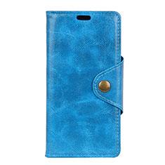 Coque Portefeuille Livre Cuir Etui Clapet L03 pour Google Pixel 3 Bleu