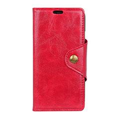 Coque Portefeuille Livre Cuir Etui Clapet L03 pour Google Pixel 3 Rouge