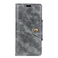 Coque Portefeuille Livre Cuir Etui Clapet L03 pour Google Pixel 3a Gris