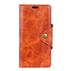 Coque Portefeuille Livre Cuir Etui Clapet L03 pour Google Pixel 3a Orange