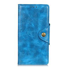 Coque Portefeuille Livre Cuir Etui Clapet L03 pour Google Pixel 4 Bleu
