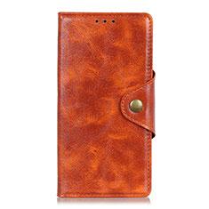 Coque Portefeuille Livre Cuir Etui Clapet L03 pour Google Pixel 4 Orange