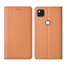 Coque Portefeuille Livre Cuir Etui Clapet L03 pour Google Pixel 4a Orange