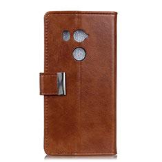 Coque Portefeuille Livre Cuir Etui Clapet L03 pour HTC U11 Eyes Marron