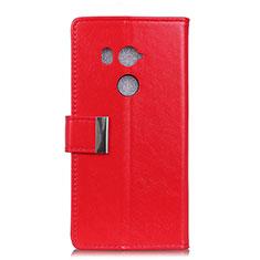 Coque Portefeuille Livre Cuir Etui Clapet L03 pour HTC U11 Eyes Rouge
