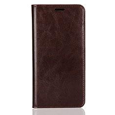 Coque Portefeuille Livre Cuir Etui Clapet L03 pour Huawei Enjoy 8 Plus Marron