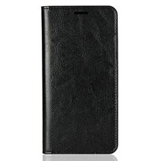 Coque Portefeuille Livre Cuir Etui Clapet L03 pour Huawei Enjoy 8 Plus Noir