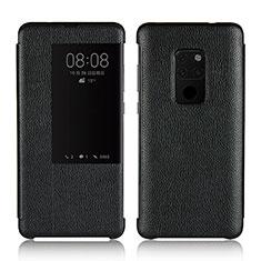 Coque Portefeuille Livre Cuir Etui Clapet L03 pour Huawei Mate 20 Noir