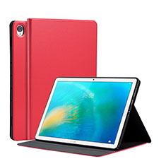Coque Portefeuille Livre Cuir Etui Clapet L03 pour Huawei MatePad 10.8 Rouge