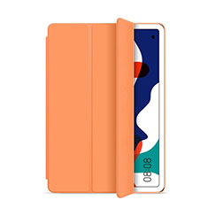 Coque Portefeuille Livre Cuir Etui Clapet L03 pour Huawei MatePad 5G 10.4 Orange