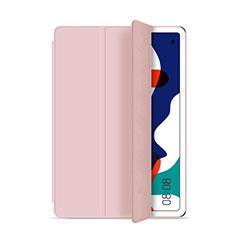 Coque Portefeuille Livre Cuir Etui Clapet L03 pour Huawei MatePad 5G 10.4 Rose