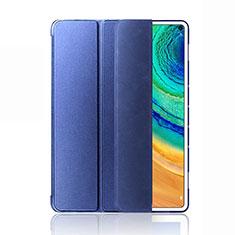 Coque Portefeuille Livre Cuir Etui Clapet L03 pour Huawei MatePad Pro 5G 10.8 Bleu