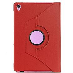 Coque Portefeuille Livre Cuir Etui Clapet L03 pour Huawei MediaPad M6 8.4 Rouge