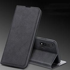 Coque Portefeuille Livre Cuir Etui Clapet L03 pour Huawei Nova 6 5G Noir