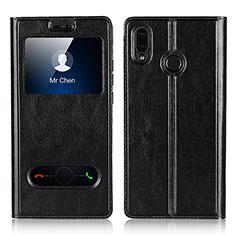 Coque Portefeuille Livre Cuir Etui Clapet L03 pour Huawei P20 Lite Noir