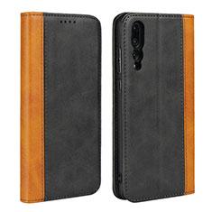 Coque Portefeuille Livre Cuir Etui Clapet L03 pour Huawei P20 Pro Noir